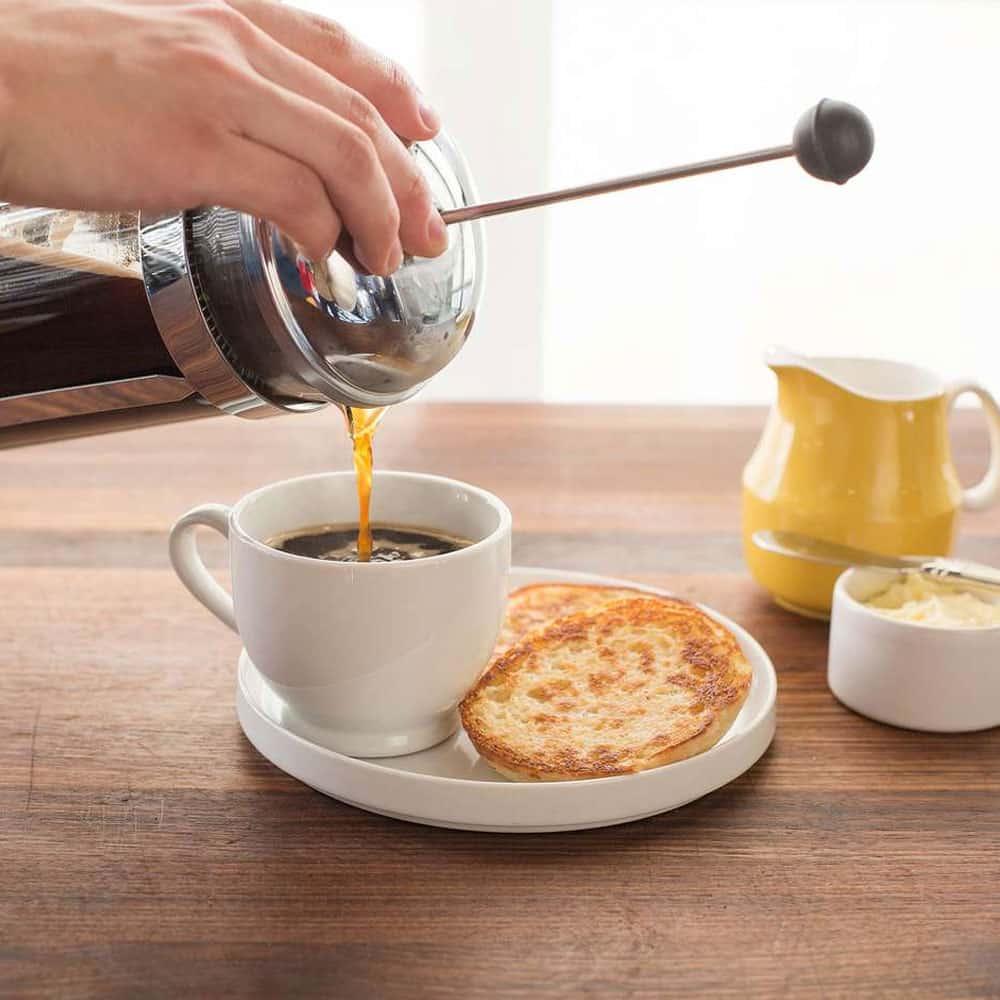 อาหารเช้าพร้อมกาแฟเฟรนช์เพรส