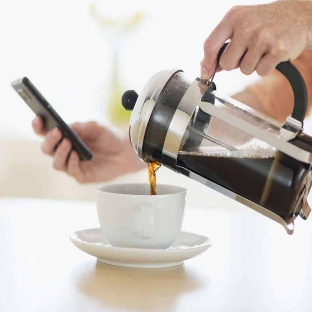 กาแฟเฟรนช์เพรสเป็นการชงที่ง่ายและราคาถูก