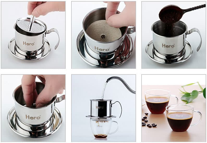 How to use Vietnam coffee pot